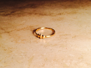 Elleve Ring US Size 8 UK Size Q in 18K Gold Plated