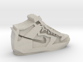 Geometric Basketball Shoe by Suprint in Natural Sandstone