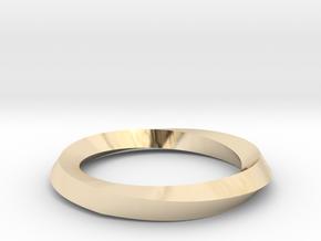 Mobius Wedding Ring-Size 5- in 14K Yellow Gold