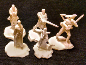 Cleric, Fighter, Rogue, Ranger, and Sorcerer in White Processed Versatile Plastic