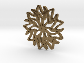 Floral Snowflake Pendant in Natural Bronze