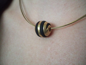 sphere spiral 16mm in Polished Gold Steel