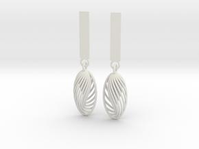 Quark Earrings - Eternal Drops (1mz5ZO)  in White Strong & Flexible