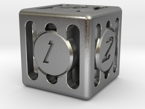 Dice - Gear Shift - D6 in Natural Silver