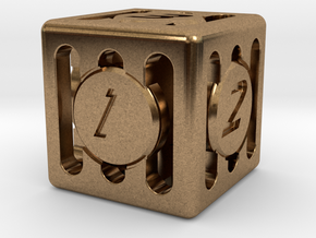 Dice - Gear Shift - D6 in Natural Brass