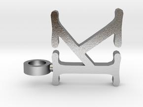 K letter Pendant in Natural Silver