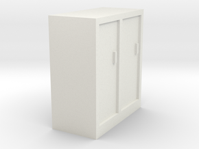 cabinet 1:87 HO in White Natural Versatile Plastic