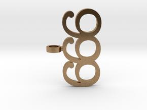Devil 666 Pendant in Natural Brass