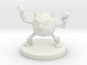 Primeape Pokemon in White Natural Versatile Plastic