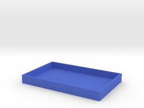 Business Card Tray 3 in Blue Strong & Flexible Polished