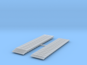 P1 Barge Causeway Section W Ramp 3x13+P3+P4 1to285 in Smooth Fine Detail Plastic