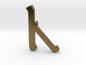Rune Pendant - Cēn in Natural Bronze