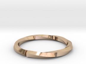 Nurbs Wedding Ring-Size 4.5 in 14k Rose Gold