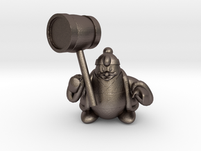 King dedede from the kirby series in Polished Bronzed Silver Steel
