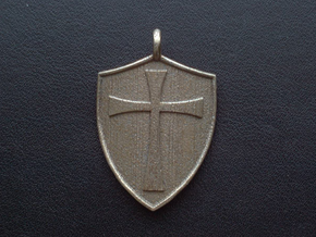 Medieval Shield Pet Tag / Pendant in Stainless Steel