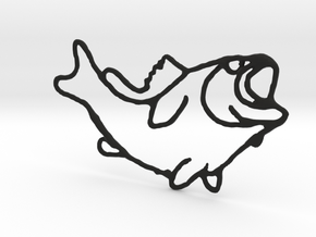 Largemouth Bass in Black Natural Versatile Plastic