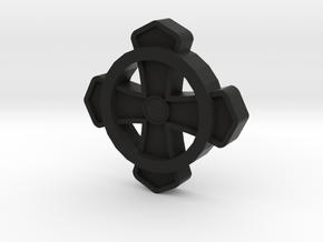 Commons Cross Tatzenkreuz in Black Natural Versatile Plastic