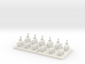 3mm DBA Elephants 40x40mm (x2) in White Strong & Flexible