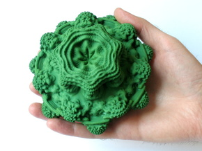 Mandelbulb - large, 125 mm in Green Processed Versatile Plastic