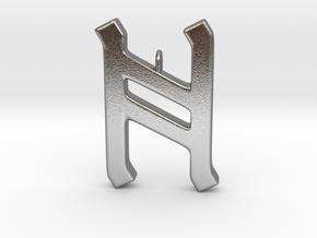 Rune Pendant - Hægl in Natural Silver