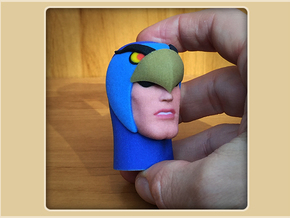 1:6 Scale Blue Falcon Head in Full Color Sandstone