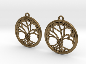 Tree Of Life Earrings in Natural Bronze