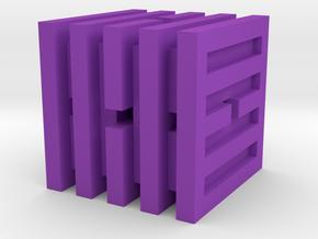Dice68 in Purple Processed Versatile Plastic