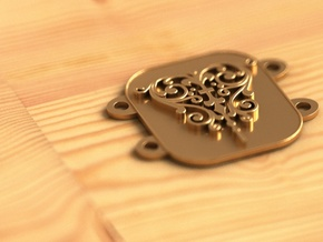Belt plate in Polished Bronze