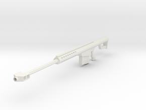 1/6th scale M107 50 cal Barrett in White Natural Versatile Plastic