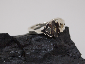 """I Love You"" Sound Wave Ring in Fine Detail Polished Silver: 7.25 / 54.625"