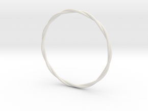 LooseTwist Bangle Bracelet SMALL in White Natural Versatile Plastic