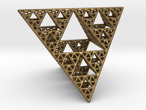 Sierpinski Tetrahedron level 4 in Natural Bronze