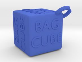 """Bag Cube"" Cube in Blue Strong & Flexible Polished"