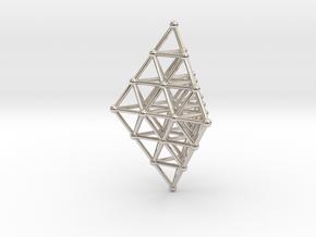 Pyramid Pendant in Platinum