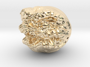 Demon ball collectible in 14K Yellow Gold