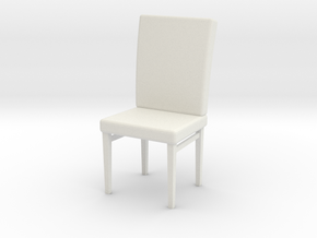 Cushion Chair (Scale 1:24) in White Natural Versatile Plastic