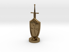 Role Playing Counter: Sword & Shield in Natural Bronze