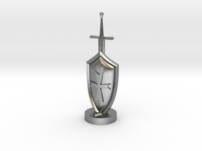 Role Playing Counter: Sword & Shield in Natural Silver
