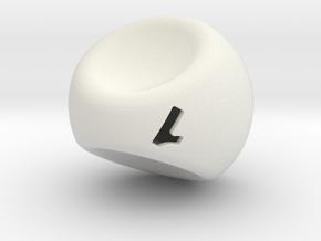 D3-2 in White Natural Versatile Plastic