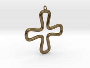 Minimalist Cross 2 in Natural Bronze