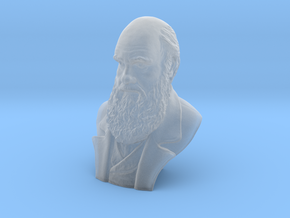 "Charles Darwin 6"" Bust in Smooth Fine Detail Plastic"