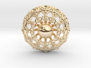 Eye Mandala Pendant in 14K Yellow Gold
