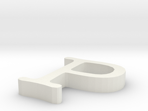 P Letter in White Natural Versatile Plastic
