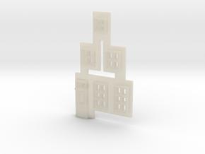 Gevel 1 in schaal Z, hiervan de ramen in White Acrylic
