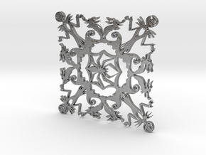 Nightmare Snowflake in Natural Silver