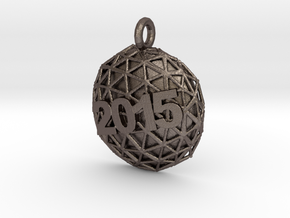New Year Ball 2015 in Polished Bronzed Silver Steel