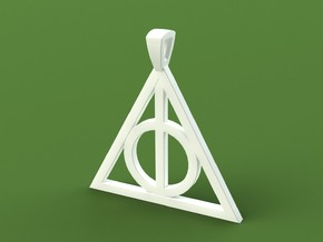 Deathly Hallows Necklace in Stainless Steel