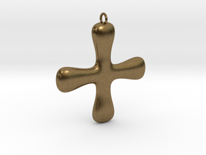 Minimalist Cross in Natural Bronze