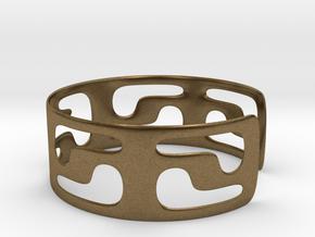 Bracciale05_d70mm in Natural Bronze