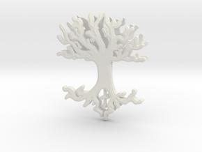 Tree Lingalad Pendant in White Natural Versatile Plastic